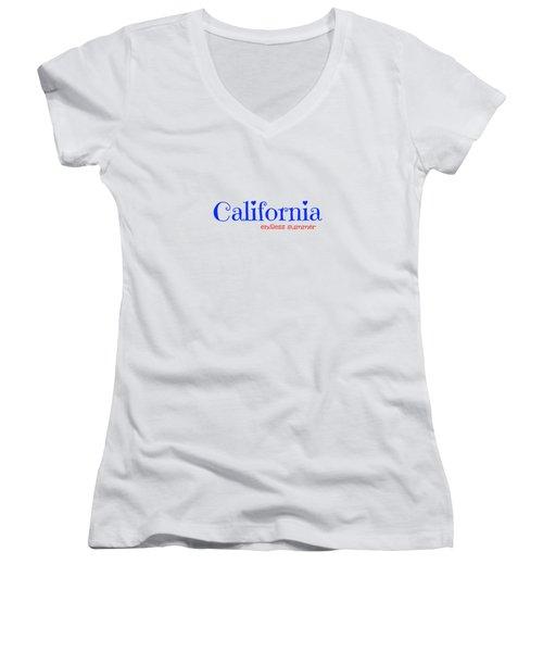 California Endless Summer Women's V-Neck