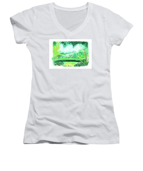 California Garden Women's V-Neck T-Shirt