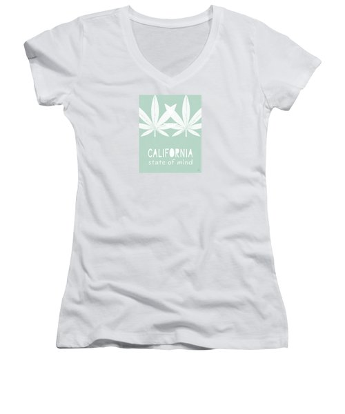 Women's V-Neck featuring the mixed media California State Of Mind- Art By Linda Woods by Linda Woods