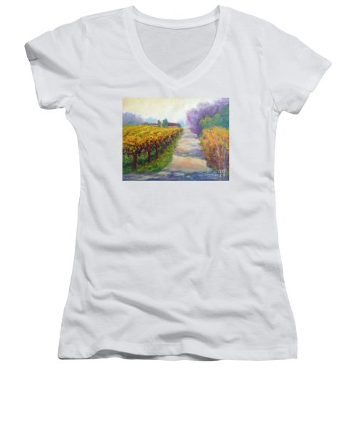 California Wine Country Women's V-Neck