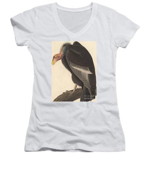 Californian Vulture Women's V-Neck T-Shirt (Junior Cut)