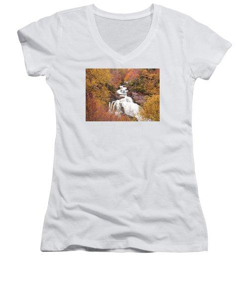 Callasaja Falls- North Carolina 2 Women's V-Neck T-Shirt