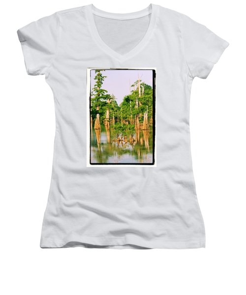 Calm Bayou Women's V-Neck T-Shirt