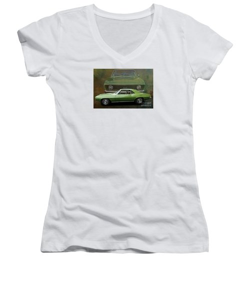 Camero Women's V-Neck T-Shirt (Junior Cut) by Jim  Hatch