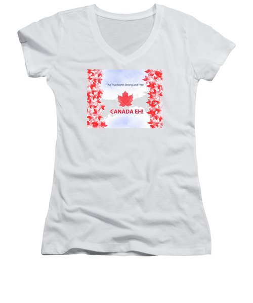 Canada Day 2016 Women's V-Neck (Athletic Fit)