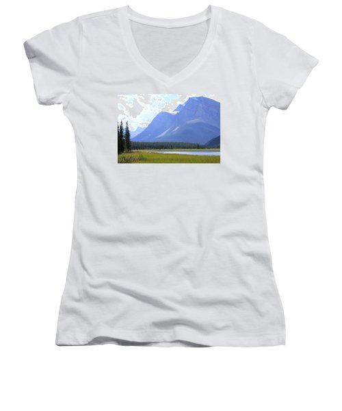 Canadian Mountains Women's V-Neck T-Shirt