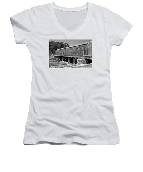 Canal Headgates Women's V-Neck T-Shirt (Junior Cut) by Kay Lovingood
