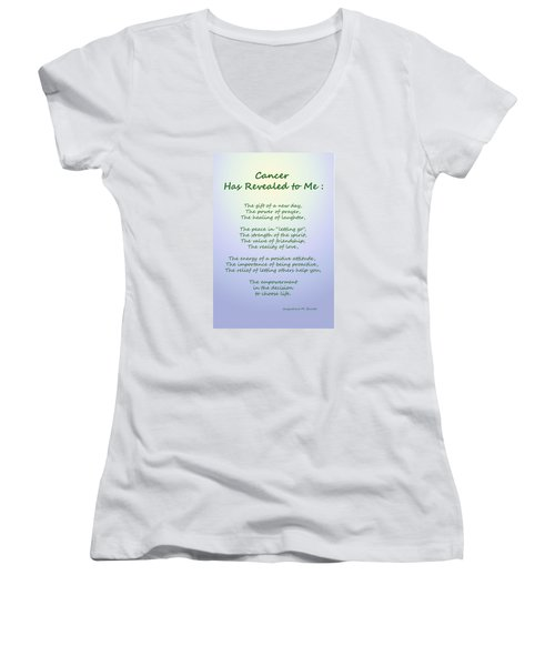 Cancer Has Revealed To Me Women's V-Neck