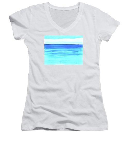 Cancun Mexico Women's V-Neck T-Shirt (Junior Cut) by Dick Sauer