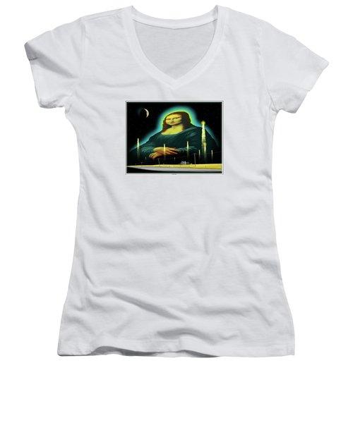 Candles For Mona Women's V-Neck T-Shirt