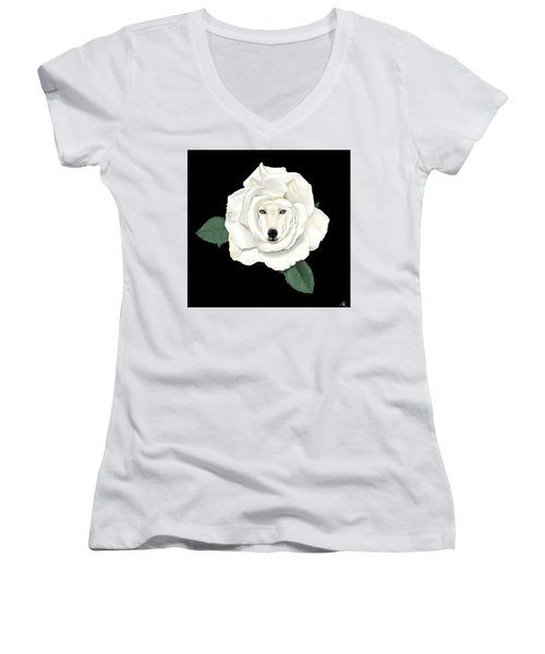 Canis Rosa Women's V-Neck T-Shirt