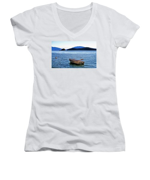 Canoe Women's V-Neck T-Shirt (Junior Cut) by Martin Cline