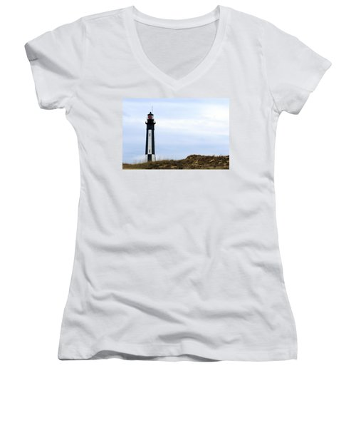 Cape Henry Lighthouse Women's V-Neck