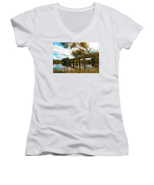 Cappaquin Railway Bridge Women's V-Neck T-Shirt