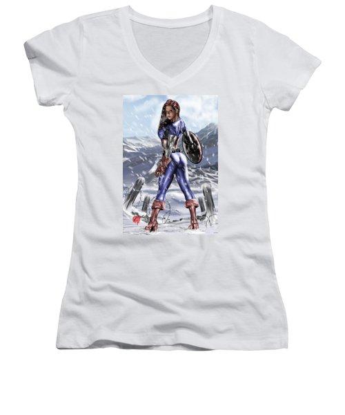 Captain America Women's V-Neck