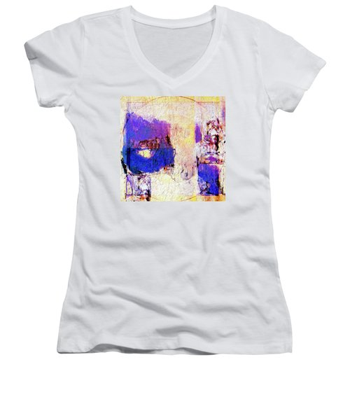 Women's V-Neck T-Shirt (Junior Cut) featuring the painting Captiva by Dominic Piperata