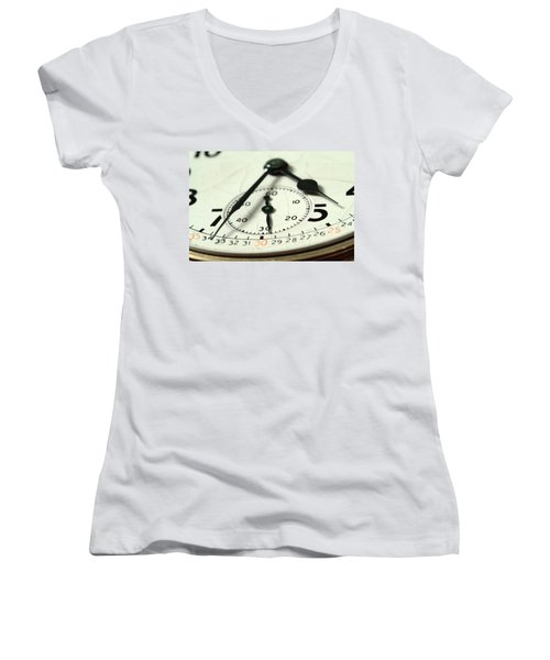 Captured Time Women's V-Neck T-Shirt
