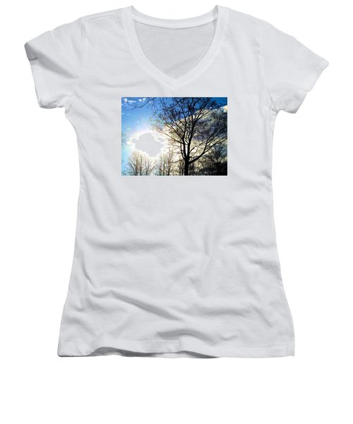 Capturing The Morning Sun Women's V-Neck