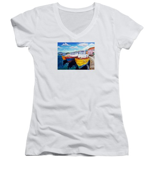 Carenage Scene 1 Women's V-Neck (Athletic Fit)