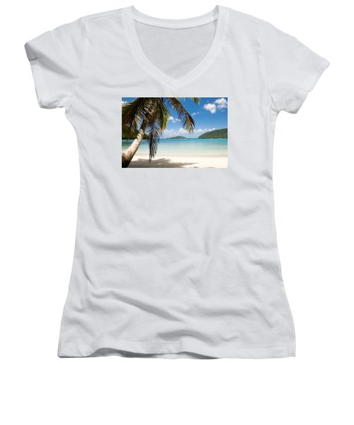 Caribbean Afternoon Women's V-Neck (Athletic Fit)