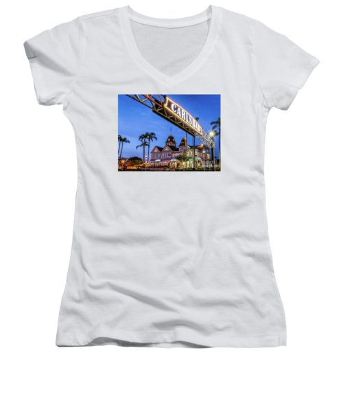Carlsbad Welcome Sign Women's V-Neck