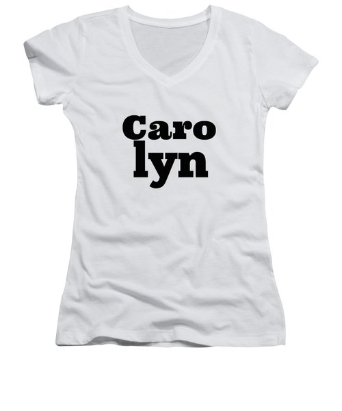 Carolyn Women's V-Neck T-Shirt (Junior Cut) by Alice Gipson