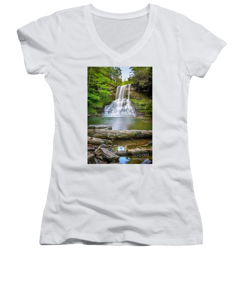 Cascades Falls Giles County Women's V-Neck (Athletic Fit)