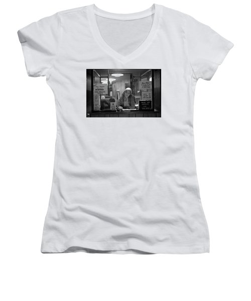 Cashier, Devon Theatre, 1979 Women's V-Neck