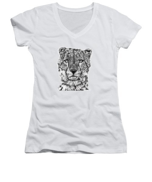 Cassandra The Cheetah Women's V-Neck T-Shirt