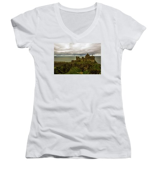Castle By The Sea Women's V-Neck (Athletic Fit)