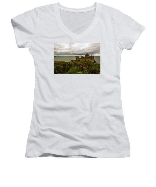 Castle By The Sea Women's V-Neck T-Shirt