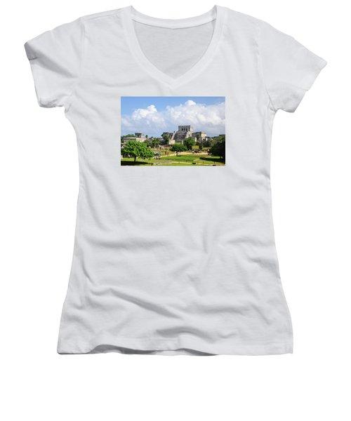 Castle In The Sky Women's V-Neck T-Shirt