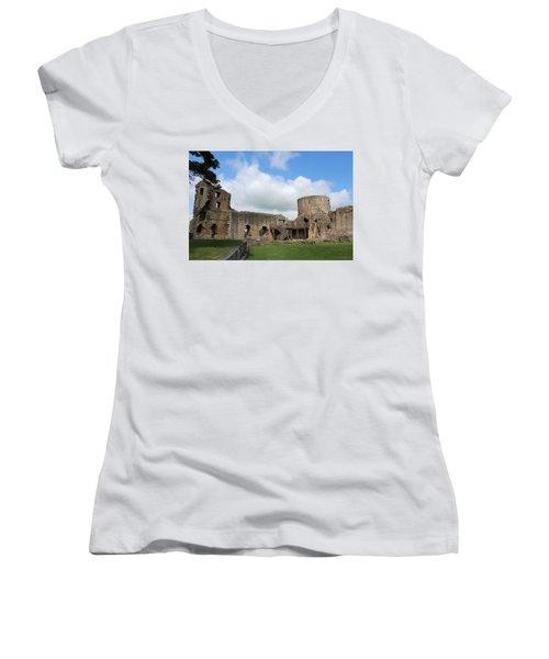 Castle Ruins Women's V-Neck (Athletic Fit)