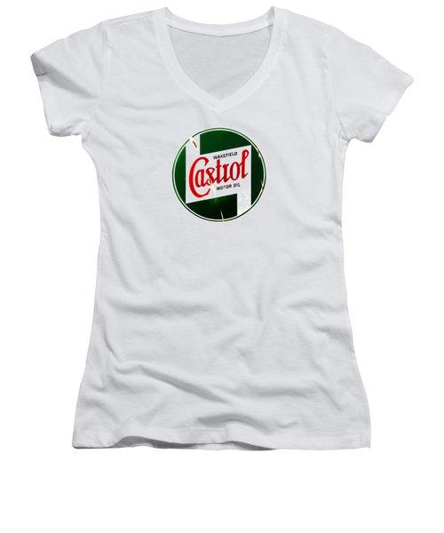 Castrol Motor Oil Women's V-Neck (Athletic Fit)