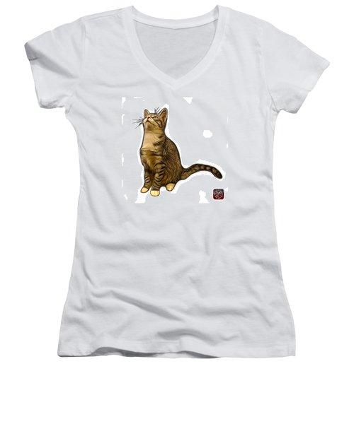 Cat Art - 3771 Wb Women's V-Neck T-Shirt