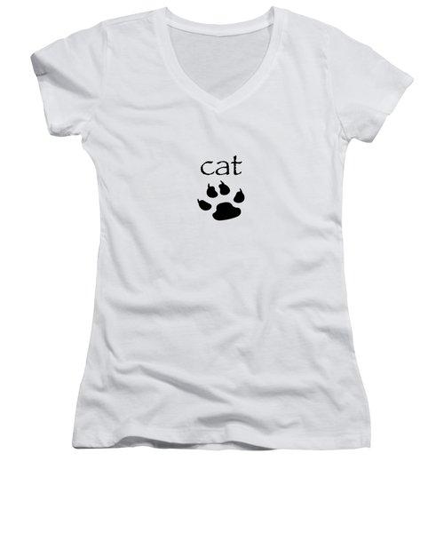 cat Women's V-Neck T-Shirt