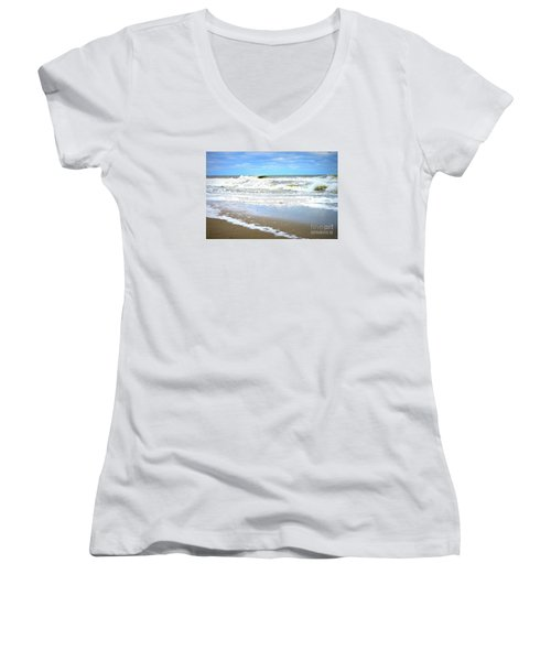 Catch A Wave Women's V-Neck (Athletic Fit)