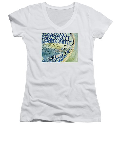 Catch And Release Women's V-Neck (Athletic Fit)