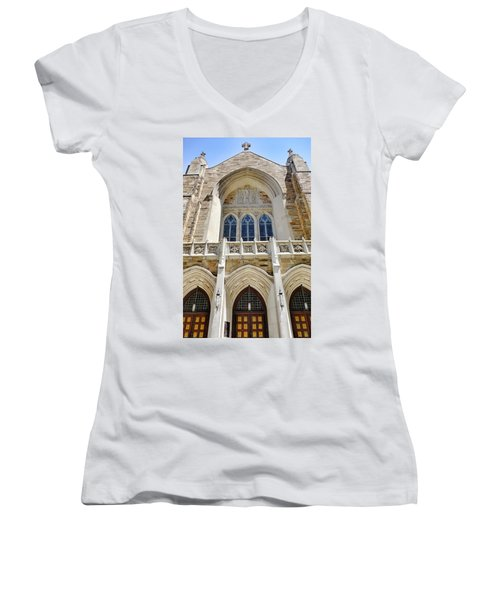 Cathedral Of St John Front Women's V-Neck T-Shirt