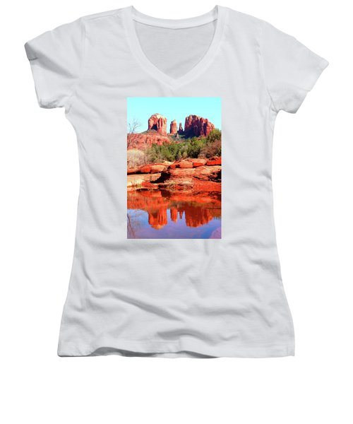 Cathedral Reflections 2 Women's V-Neck