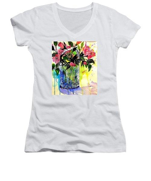 Cecile Brunner's Women's V-Neck T-Shirt