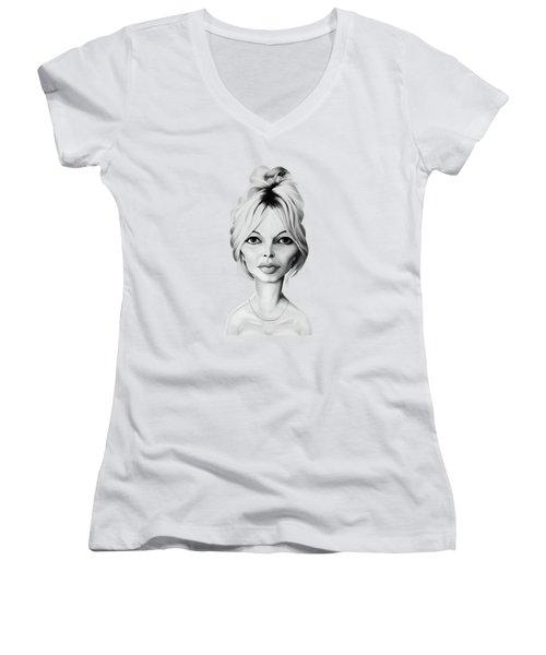 Celebrity Sunday - Brigitte Bardot Women's V-Neck