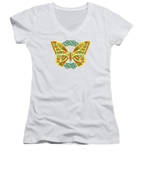 Celtic Butterfly Women's V-Neck T-Shirt