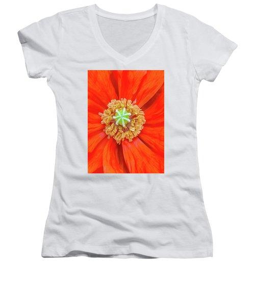 Center Of The Universe Women's V-Neck T-Shirt (Junior Cut) by Bruce Carpenter