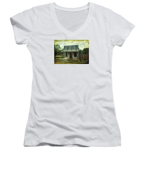 Women's V-Neck T-Shirt (Junior Cut) featuring the photograph Central London - No.1127 by Joe Finney