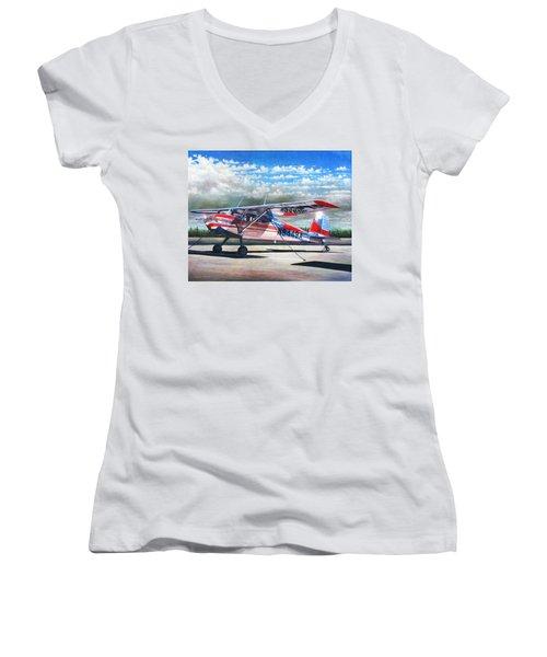 Cessna 140 Women's V-Neck