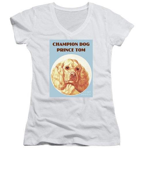 Champion Dog Prince Tom Women's V-Neck (Athletic Fit)