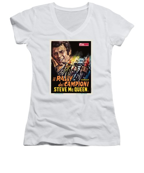 Champions Rally Women's V-Neck T-Shirt (Junior Cut) by Gary Grayson
