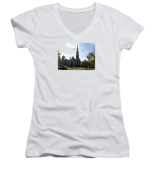 Channing Memorial Church Women's V-Neck T-Shirt