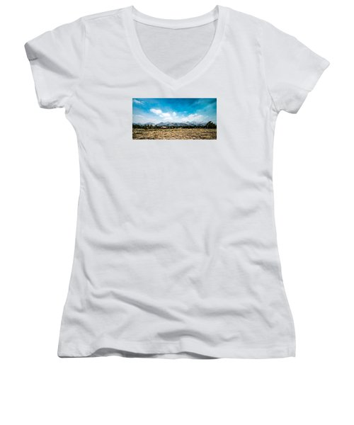 Chapel Of The Transfiguration Women's V-Neck T-Shirt (Junior Cut) by Cathy Donohoue